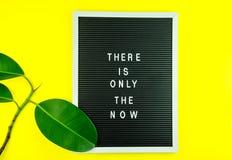 Mindfulness - tun Sie es JETZT E lizenzfreies stockfoto