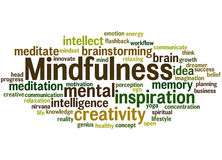 Mindfulness, word cloud concept 3 Stock Images