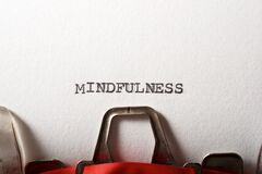 Free Mindfulness Word View Royalty Free Stock Image - 181487216