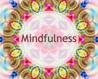 Mindfulnessdesign Royaltyfri Foto