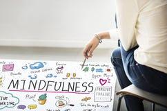 Mindfulnessoptimism kopplar av Harmony Concept Royaltyfri Foto