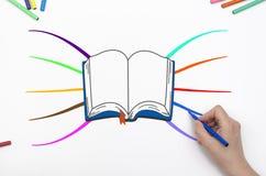 Mindmap книги чертежа руки Стоковые Фото