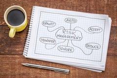 Mindmap della gestione dei rischi Fotografie Stock Libere da Diritti