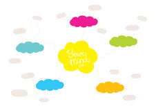 Mindmap, hand drawn scheme infographic design Royalty Free Stock Images