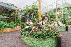 People visit Mariposario The Butterfly House in Mindo stock image