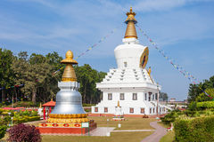 Mindrolling Monastery, Dehradun. The Great stupa in Mindrolling Monastery in Dehradun, India is a largest stupa in the world Stock Image