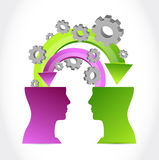 Minds at work concept illustration Royalty Free Stock Image