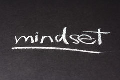 Mindset. Handwriting on chalkboard of Mindset topic Stock Images