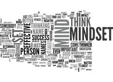 Is It Mindset Or Mind Set Text Background Word Cloud Concept Stock Images