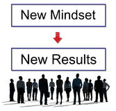 Mindset Opposite Positivity Negativity Thinking Concept. Mindset Opposite Positivity Thinking Concept Royalty Free Stock Photos