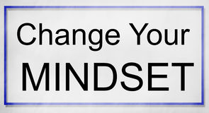 Mindset Opposite Positivity Negativity Thinking Concept Royalty Free Stock Image