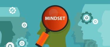Mindset pozytywu inside klienta móżdżkowej umysłowej wiary ludzie royalty ilustracja