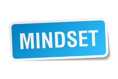 Mindset sticker on white Royalty Free Stock Image
