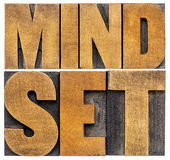Mindset word abstract typography Royalty Free Stock Photography