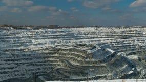 Mine à ciel ouvert d'Asbestovsky Images stock