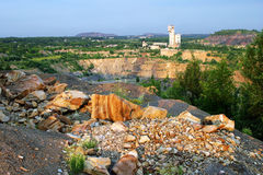 Mine à ciel ouvert de composé industriel de mercure Photographie stock