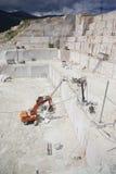 Mine à ciel ouvert de marbre Image stock