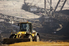 Mine à ciel ouvert, Hambach, Geramny Photos libres de droits