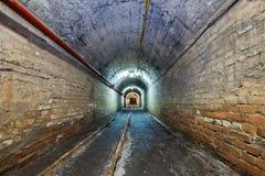 Mine. Tunnel in underground coal mine Stock Images
