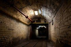 Mine. Tunnel in underground coal mine Stock Photo