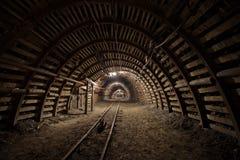 Mine. Tunnel in underground coal mine Royalty Free Stock Image