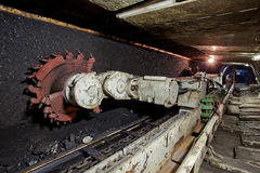 Mine. Tunnel in underground coal mine Royalty Free Stock Images