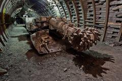 Mine. Tunnel in underground coal mine Stock Photos