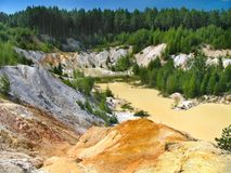 Mine. Old kaolin mine and the pool Royalty Free Stock Image
