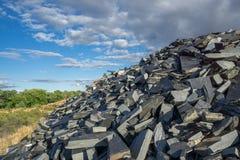 Mine abandonnée d'ardoise Images libres de droits