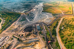 Mine aerial view Royalty Free Stock Images