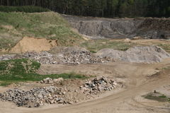 Mine aggregates Stock Images