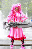 Mine Akame ga kill. Bangkok - Aug 31: An unidentified Japanese anime cosplay Mine pose  on August 31, 2014 at Central World, Bangkok, Thailand Royalty Free Stock Images