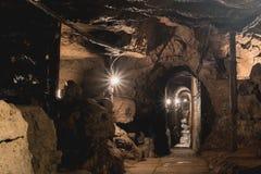 Mine argentée dans Tarnowskie sanglant, site d'héritage de l'UNESCO images libres de droits