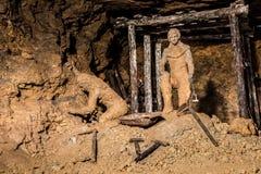 Mine argentée dans Tarnowskie sanglant, site d'héritage de l'UNESCO photographie stock libre de droits