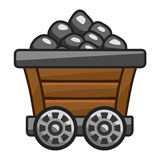 Mine cart with coal Royalty Free Stock Image