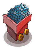 Mine Cart Full of Ore. Royalty Free Stock Photo