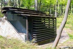 Mine com condicionamento de ar e purificação da floresta e da alimentação foto de stock
