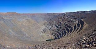 Mine d'or à ciel ouvert Photo stock