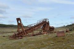 Mine d'or abandonnée au lac Lago Blanco Image libre de droits