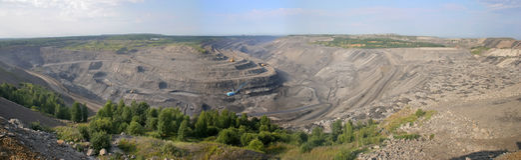 mine d'Ouvrir-charbon Photo stock