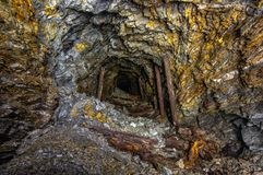 Mine d'or vieux photographie stock libre de droits