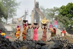 Mine de broyeur en Inde Photographie stock