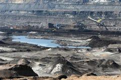 Mine de charbon avec une excavatrice de Seau-roue Photographie stock