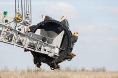 Mine de charbon brune à ciel ouvert Excavateur à roue-pelle Image libre de droits