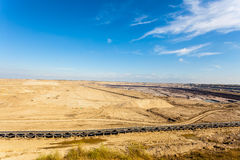 Mine de charbon brune à ciel ouvert Piqûre ouverte Photographie stock