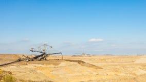 Mine de charbon brune à ciel ouvert Piqûre ouverte Photo stock