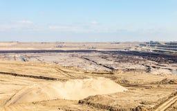 Mine de charbon brune à ciel ouvert Piqûre ouverte Photo libre de droits
