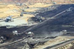 Mine de charbon Kostolac d'exploitation à ciel ouvert Image stock