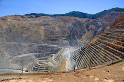 Mine de cuivre de Bingham Kennecott Photographie stock