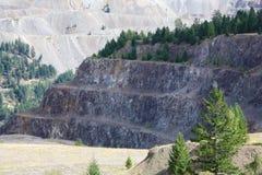 Mine de cuivre de montagne Images libres de droits
